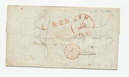 968/24 - Précurseur BELOEIL Via ATH 1839 Vers PARIS France - Signée Le Prince De Ligne - B2R = 2è Rayon - 1830-1849 (Belgique Indépendante)