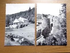 2 Cartes - La Roche En Ardenne: Entrée Du Vieux Chateau + Le Moulin De Royen (route De La Roche Cielle) --> Onbeschreven