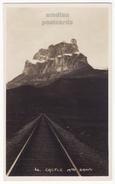 Banff Alberta, Castle Mountain Canadian Pacific Railway C1930s Vintage RPPC Real Photo CPR Postcard - Banff