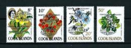 Aitutaki  Nº Yvert  77/80 (sobrecarga)  En Nuevo