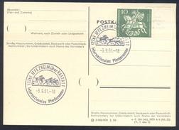 Germany Deutschland 1961 Card: Cavallo Horse Pferd Cheval: Equestrian; Internationales Pferderennen Iffezheim Galop