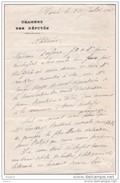1913 - Lettre D' Ernest Roche Député De La Seine - 1850-1917 - Homme Politique Français,socialiste Et Boulangiste - Manoscritti
