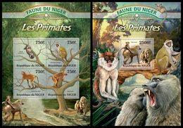 NIGER 2013 - Primates  - YT 1756-9 + BF146; CV = 31 €