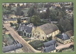 CPSM GF - SARTHE - EN AVION AU DESSUS DE DISSAY SOUS COURCILLON - LE PRIEURE ET L'EGLISE - LAPIE / 1 - France