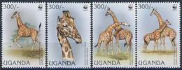 MDW-BK1-030 MDA MINT PF/MNH ¤ UGANDA 1997 4w In Serie ¤ WWF - GIRAF - ENDANGERED ANIMALS