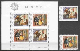 Portugal 1979 Mi 1441-1442 + Block 27 MNH CEPT EUROPA (phosphor See Picture)