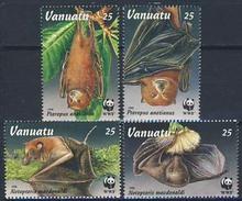 MDW-BK1-031 MDA MINT PF/MNH ¤ VANUATU 1996 4w In Serie ¤ WWF - BATS - ENDANGERED ANIMALS