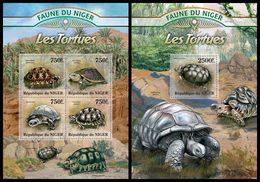 NIGER 2013 - Turtles  - YT 1768-71 + BF149; CV = 31 € - Schildpadden
