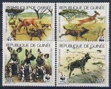 MDW-BK1-032 MDA MINT PF/MNH ¤ GUINEE 1987 4w In Serie ¤ WWF - WILD - ENDANGERED ANIMALS