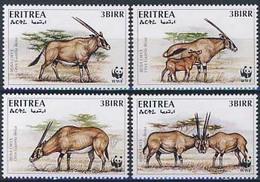 MDW-BK1-033 MDA MINT PF/MNH ¤ ERITREA 1996 4w In Serie ¤ WWF - WILD - ENDANGERED ANIMALS