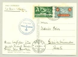 Schweiz - 1939 - 50c + 20c Airmail On Pro Aero Meldeflug