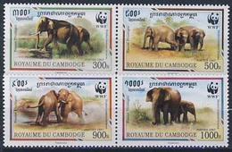 MDW-BK1-035 MDA MINT PF/MNH ¤ CAMBODGE 1997 4w In Serie ¤ WWF - WILD - ENDANGERED ANIMALS