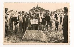 OUISTREHAM DANS LE CALVADOS CARTE PHOTO PLAGE BELLA RIVA  CONCOURS DES PLAGES 1936 - Ouistreham