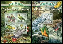 NIGER 2013 - Parrots - YT 1752-5 + BF145; CV = 31 €