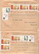 Vietnam 2 Registered Air Mail Covers Hanoi 1981 Vers Belgique Bruxelles PR4063