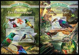 NIGER 2013 - Passerines  - YT 1764-7 + BF148; CV = 31 € - Uccelli