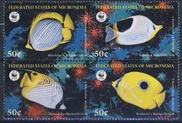 MDW-BK1-040 MDN MINT PF/MNH ¤ MICRONESIA 1997 4w In Serie ¤ WWF - FISH - ENDANGERED ANIMALS