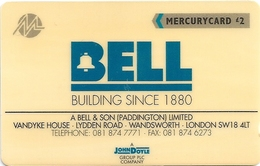 UK - Mercury - A. Bell & Son - 20MERC - MER171 - 7.190ex, Used - [ 4] Mercury Communications & Paytelco