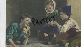 Carte Fantasie : Joeux Au Cartes ( Malade , Ziek , Tandpijn , Mal Au Tands ( Edit: Bernh. Bischoff , Stollberg 1909 ) - Cartes à Jouer