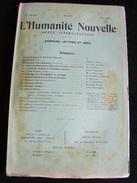 A Voir 50 Annonces Humanité Nouvelle Revue Internationale Littéraire Politique Tendance Anarchiste Ici N°35 Mai 1900 GAR - Books, Magazines, Comics