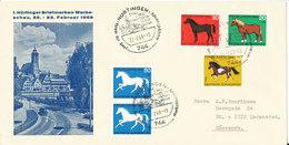 Germany Cover 1. Nürtinger Briefmarken Werbeschau Nürtingen 22-2-1969 Sent To Denmark Good Stamped Cover With Cachet - BRD