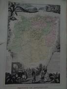 Carte Migeon.Province De Constantine.planche 49,2 X 35,4 Cm.dressé Par Vuillemin - Geographical Maps