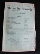 Revue Janvier 1900 L' Humanité Nouvelle N°31 Revue Internationale Littéraire Politique Tendance Anarchiste -- GAR - Livres, BD, Revues