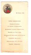 Menu De La Papeterie Anglaise 23/4/1912 PR4066 - Menus