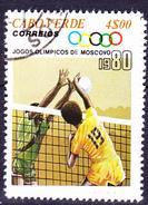 Kap Verde -  Olypiade Moskau Volleyball (MiNr: 410) 1980 - Gest Used Obl