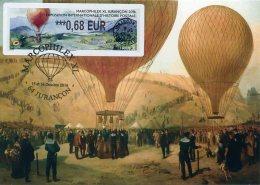 FRANCE (2016). Carte Maximum Card - ATM LISA - MARCOPHILEX XL Jurançon 2016 - Ballon, Balloon, Montgolfière, Globo - 2010-... Vignette Illustrate