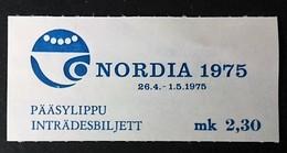 1975 Eintrittskarte Nordia 1975
