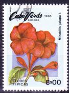 Kap Verde - Wunderblume (Mirabilis Jalapa) (MiNr: 427) 1980 - Gest Used Obl
