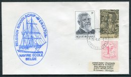 Belgium MERCATOR Ship Cover X 2 + Postcard. Navire Ecole Belge. Training Sailing Ship - Covers & Documents