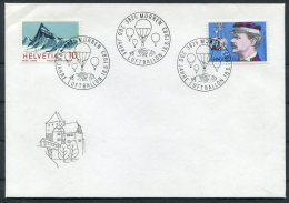 1983 Switzerland Luftballon Cover. Murren