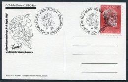 1985 Switzerland LUPO '85 Postcard. Luzern Europa
