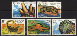 Spain. 1979. Invertebrados Ed 2531-35 (**) SG 2579-83