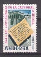 Andorra - 1975, Catedral De Urgell E=99 S=89 (**)