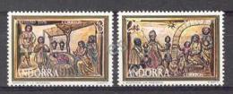 Andorre Esp 1976. Noël. Yv 98-99 (**)