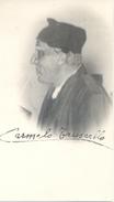 CARMELO TRUSCELLO ITALIAN ACTOR  AUTOGRAPHE SUR CARTE POSTALE COMPAGNIA MARCELLINI MARCONI 1930 RARE - Autographs