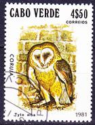 Kap Verde - Schleiereule (Tyto Alba) (MiNr: 446) 1981 - Gest Used Obl