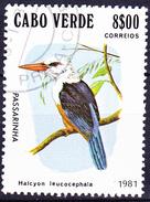 Kap Verde - Graukopfliest (Halcyon Leucocephala) (MiNr: 447) 1981 - Gest Used Obl