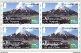 South Georgia 2016 Zavodovski Island Mountains Volcano (Mount Curry) Block Of Four MNH ** - Géorgie Du Sud