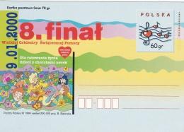 Poland Postal Stationary 1999 Wielkiej Orkiestry Swiatecznej Pomocy - Mint  (G81-5)