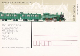 Poland Postal Stationary 1999 Train  - Mint  (G81-5)