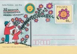 Poland Postal Stationary 1998 30. Rocznica Ustanowienia Orderu Usmiechu   - Mint  (G81-5)