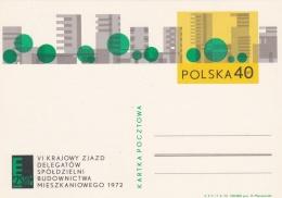 Poland Postal Stationary 1972 VI Krajowy Zjazd Delegatow   - Mint  (G81-5)
