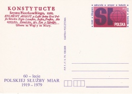 Poland Postal Stationary 1979 60-lecie Polskiej Sluzby Miar   - Mint  (G81-5)