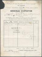 Bordereau D'Expédition Expédié De LESSINES Le 29 Mai 1896 (cachet Ferroviaire Hexagonal + Griffe POIDS RECONNU LESSINES - Railway