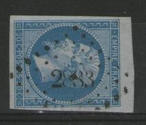 Marne:  N°14B (type 2) BdF Oblitéré P.c.2883 (SERMAIZE-S-SAULX)