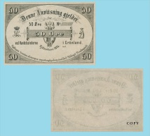 Greenland 50 Oere 1874 .g. .G. - REPROCTIONS -( X023 ) - COPY - Groenland